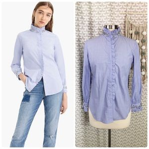 J. Crew Slim Perfect Shirt With Embellishments